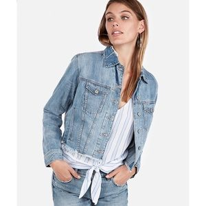 Express light wash denim jean jacket